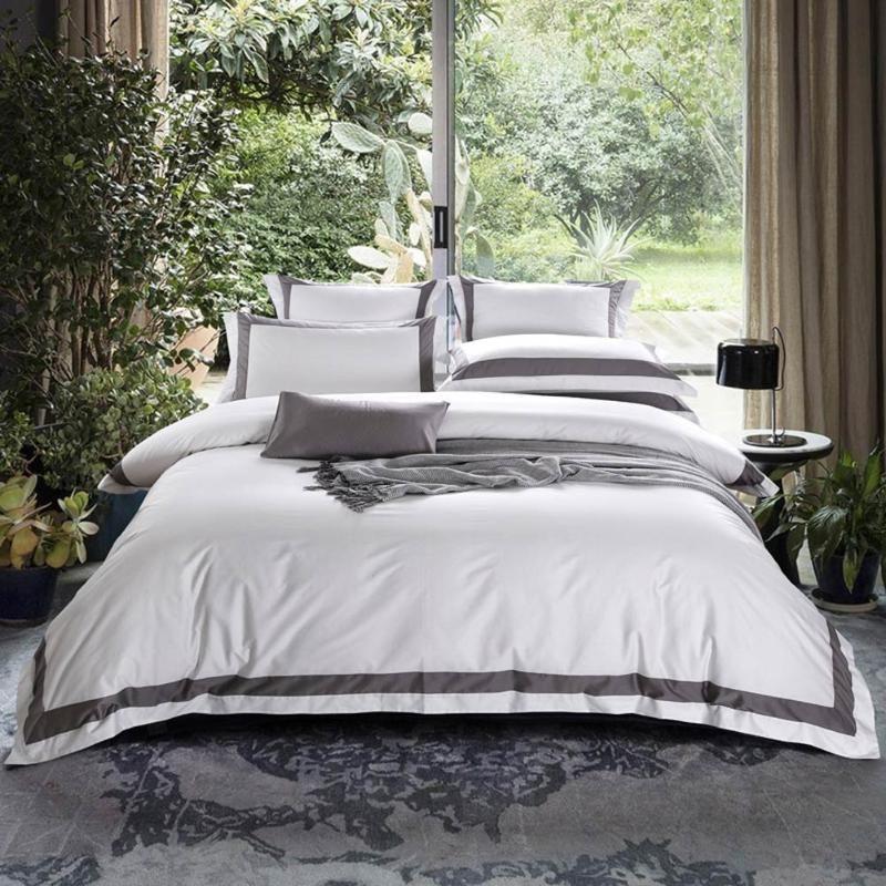 Svetanya Hotel Bedding Set White Cotton, Hotel Bedding Sets Super King