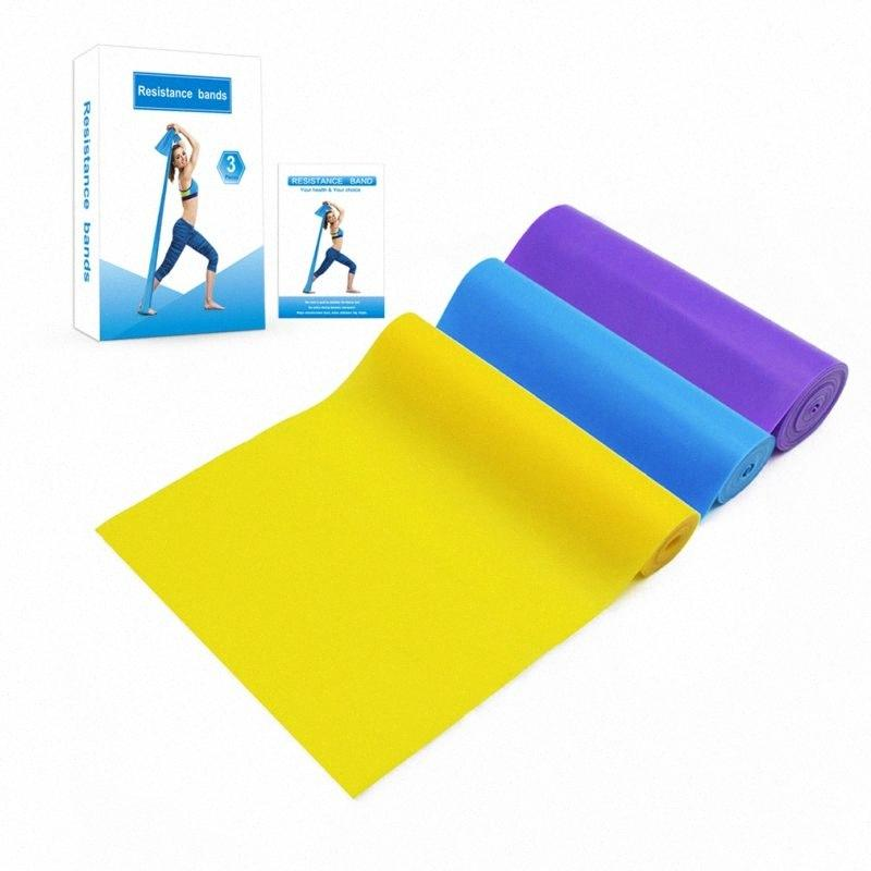 Donne Elastic Band di yoga Pilates di resistenza di stirata lunga fascia di esercitazione Fitness Cintura Fitness Palestra Rope J83j #