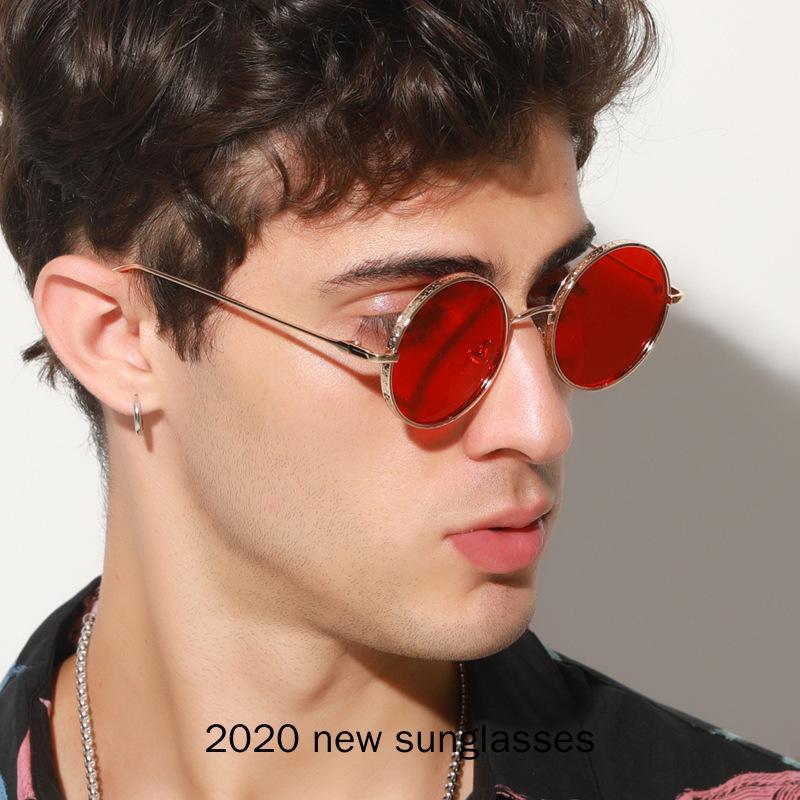Marco elegante Círculo de salida de las mujeres de gran tamaño de la cadera gafas de sol 2020 nuevos hombres Ronda Hop Gafas de sol Mujer Hombre Marca Sombras NX