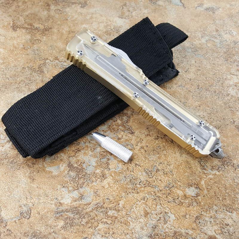 UT121 다기능 titanize 전술 접는 나이프 야외 포켓 나이프 높은 품질 부드러운 구조 캠핑 도구를 지원