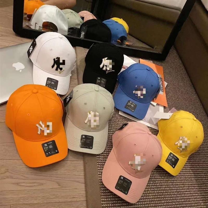 lbLvG coreana sombrero marca de moda estilo femenino del caramelo de ocho colores informal de verano en punta de béisbol de béisbol capy alcanzó su punto máximo gorra de los Yankees casquillo pareja