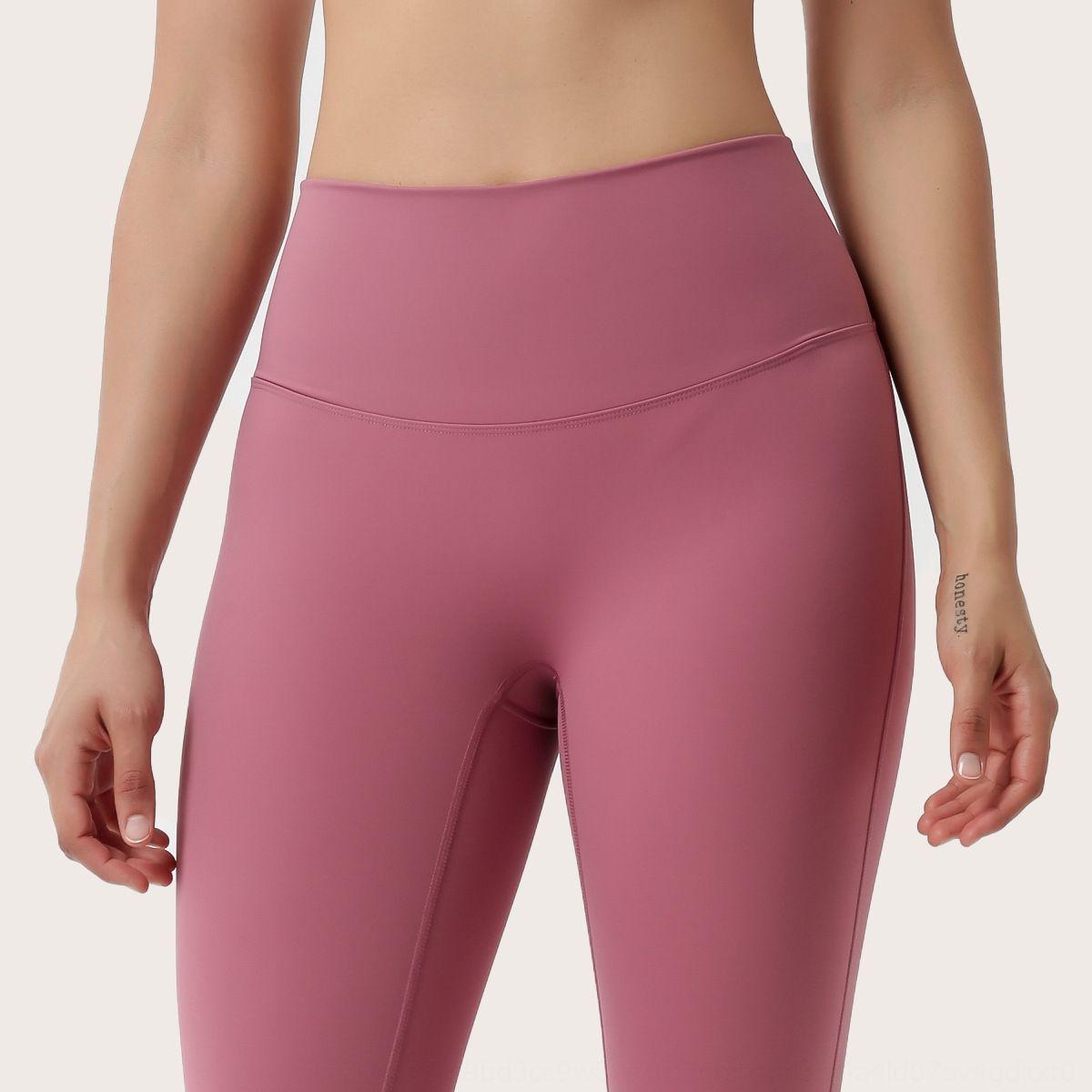 quEdW İnternet ünlü fitness Şeftali Ağ Ünlü pantolon spor yoga yüksek bel streç kalça çıplak sıkı kalça kaldırma ins pa çift taraflı