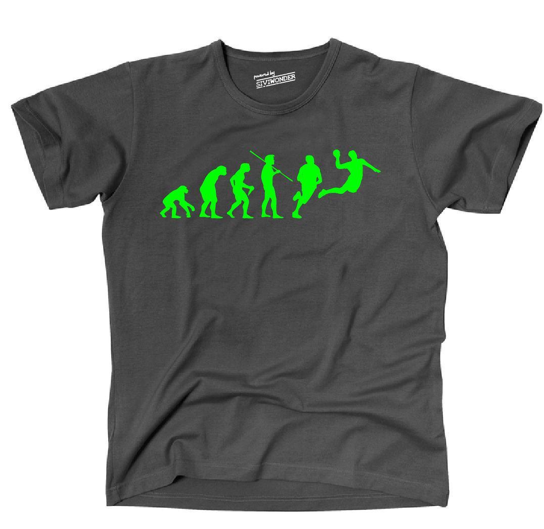 Caldi di vendita 2019 Moda T-shirt Evolution Palla a mano Pallamano Porta Sporter T Shirt manica corta