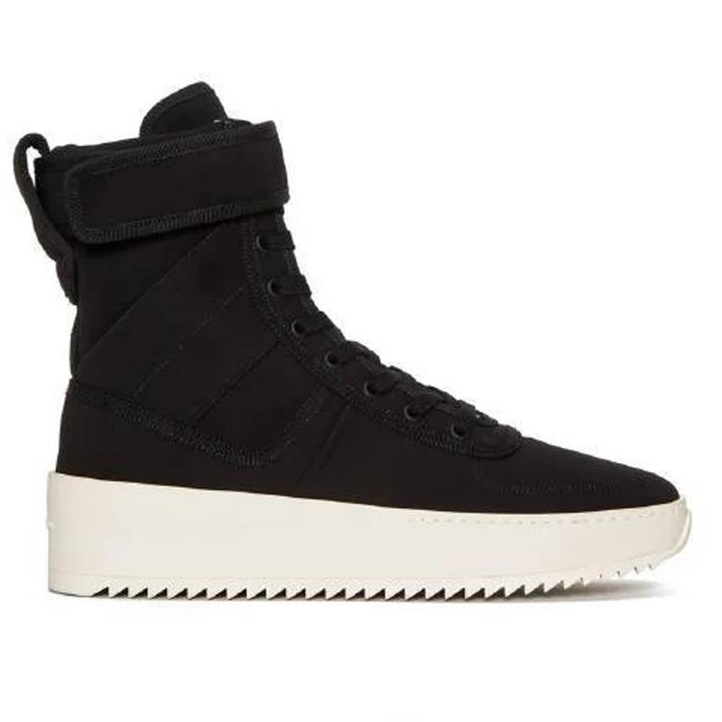 2018 botas de diseñador de la marca para mujeres de los hombres de moda de lujo Bottines temor de Dios Niebla Ejecución de baloncesto zapatos de invierno lluvia nieve para mujer zapatillas de deporte