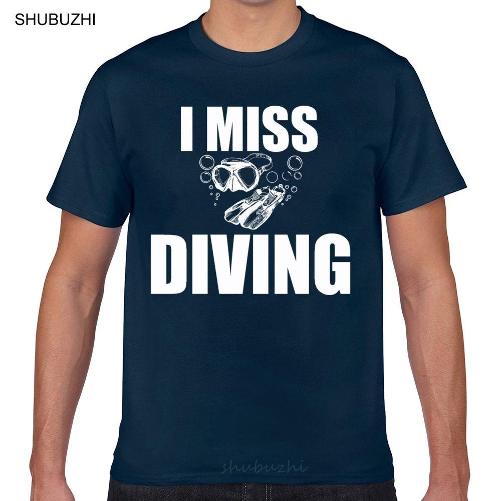 T Gömlek erkekler Scuba Diver Bayan Tüplü Dalış Komik O-Boyun Vintage Geek Pamuk Erkek Tişörtü Tops
