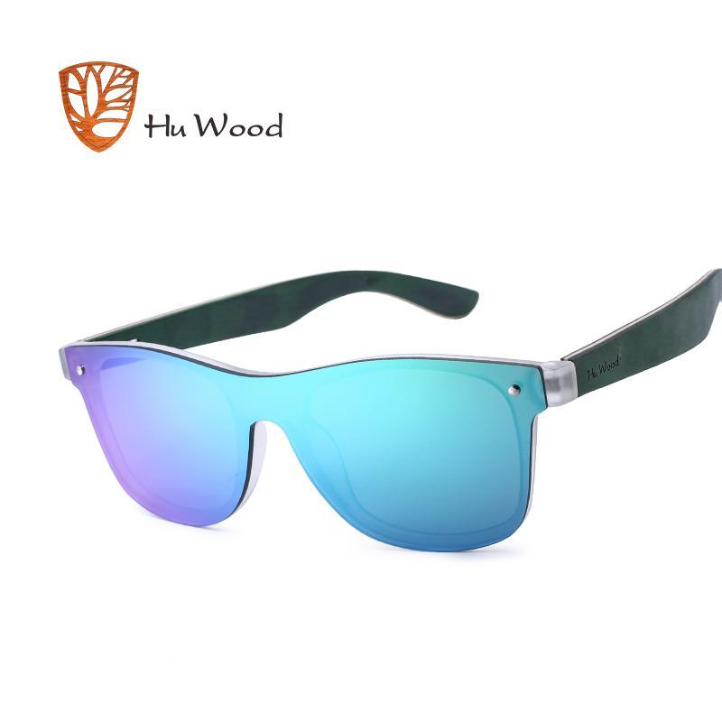 Рамка древесина 2020 женщин HU Polarized пластик новый солнце деревянные наушники прямоугольник оттенки для солнцезащитных очков мужчин прибытие очки GR8021 Kemsi