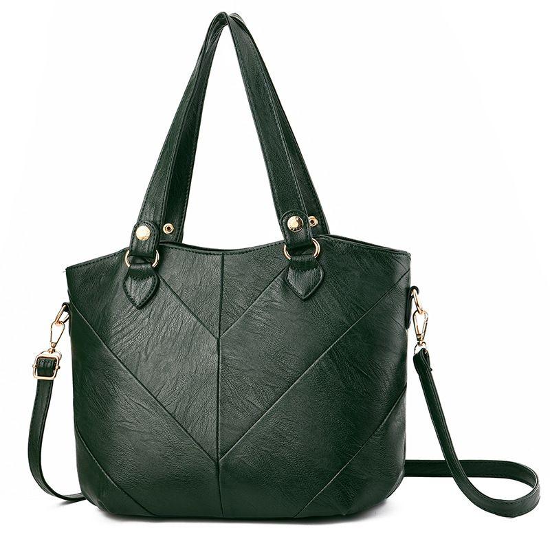 Fashion Women Handbags Tassel PU Leather Totes Bag Top-handle Embroidery Crossbody Bag Shoulder Bag Lady Hand Bags Green Color