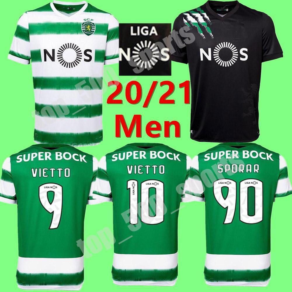 2020 2021 스포츠 클럽 드 축구 유니폼 리스본 # 90 Spora Acuna 셔츠 Mens 멀리 20 21 # 10 Vietto Raphinha Phellype 축구 유니폼