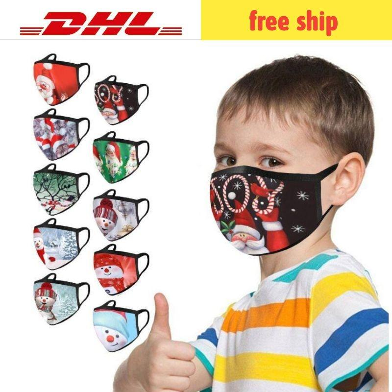 Face mask kids and adult reusable face-mask black Polyester cotton washable sublimation masks mascarilla DHL free shopping 7-10days