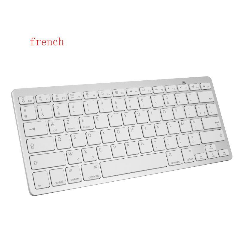 1set Wireless Keyboard Mouse Slim Bluetooth Keyboard with Mouse French Letters BT PC Keypad for Laptop, Notebook, Pro