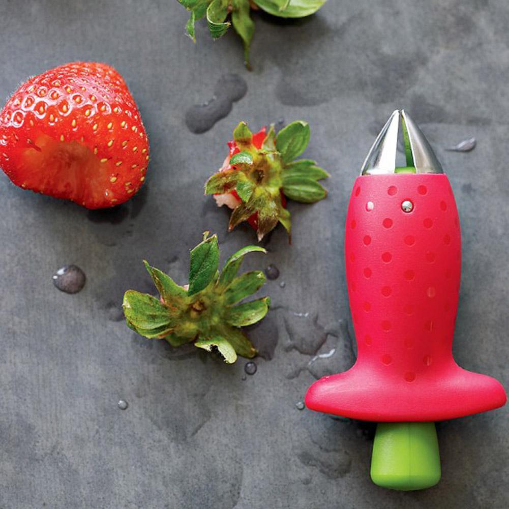 Amais Kitchen Accessories Strawberry Huller Fruit Leaf Remover Tomato Stalks Plastic Stem Remover Creative Kitchen Gadgets Tool