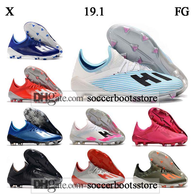 GIFT BAG الرجال الكاحل قليلة لكرة القدم أحذية X 19.1 FG كرة القدم المرابط X 19.1 Speedmesh X19.1 سرعة أحذية شبكة كرة القدم