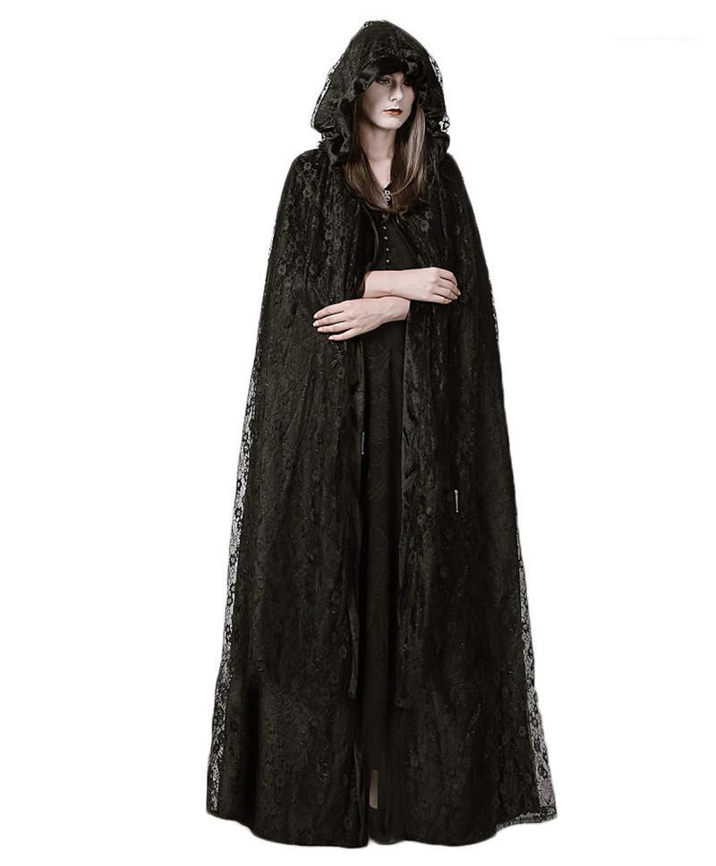 Güzeller Cosplay Kulübü Bayan Elbise Parti Sahne Elbiseler Cadı Tasarımcı Dantel Cloak Bayan Giyim Cadılar Bayramı Gotik