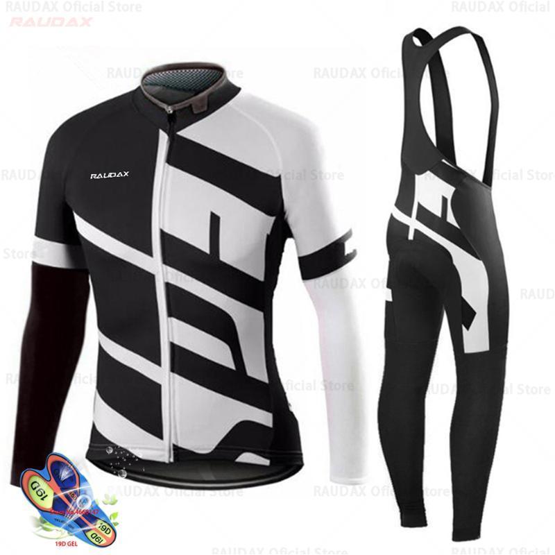 Yarış Setleri Güz 2021 Bisiklet Kıyafet Profesyonel Ekip MTB Yaz Uzun Kollu Ironman Triatlon Dağ Bisikleti Raudax