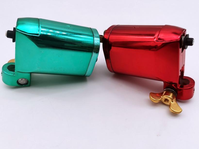 Dishoun! Ny 1pc röd eller grön färg du val av plast roterande tatuering maskin / pistol droppe frakt