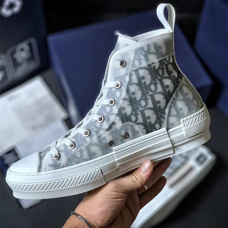Moda Dior conversar Air Jordan 1 Kanye High Top Bleu Baixa Oblique KAWS Kim Jones Hommes Trainers cesto de basquete Sneakers Shoes