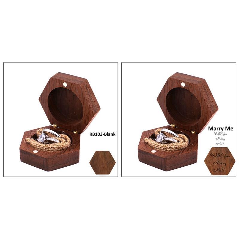 الجوز الأسود مسدس شخصية الفلاح زفاف الخشب حلقة صندوق حامل خاتم الزفاف لحاملها صندوق مجوهرات لبيع الهدايا
