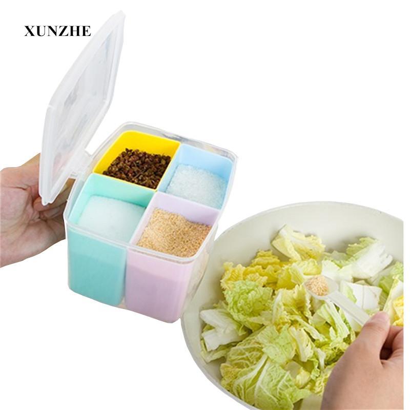 XUNZHE cocina especia botella tarro condimento Cajas tarros con la manija de cocina para guardar objetos de contenedores