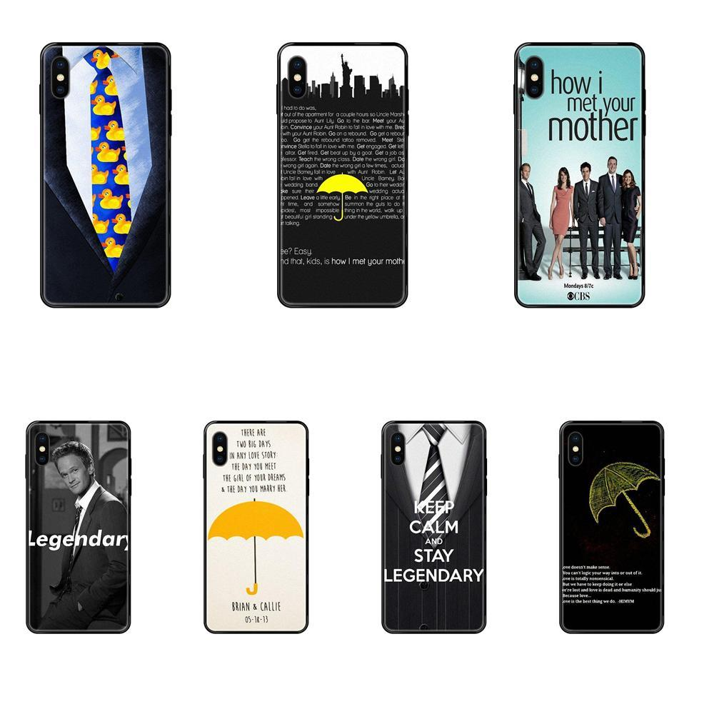 Para Apple iPhone X XR XS 11 12Pro MAX 5S 5C SE 6S 7 8 Plus 2020 2019 HIMYM How I Met Your Mother Pattern macio personalizado