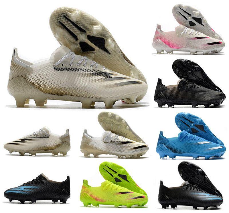 Yeni Ghosted.1 FG futbol ayakkabıları futbol krampon Yerellik Sinyal Yeşil Flight Beyaz Çekirdek Siyah Metalik Altın MelangeX20.1 pembe futbol Çizme