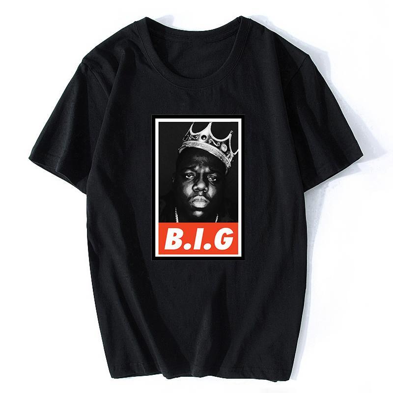 Notorious Big Rap de algodón para hombres verano divertido fresco de la camiseta de Harajuku de Calle Camisetas Ropa hombre Estéticas de la vendimia