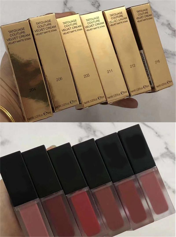 Brand Velvet Matter Stain Rossetto Tatouage Couture Cream 6 Colore Liquid Lipgloss