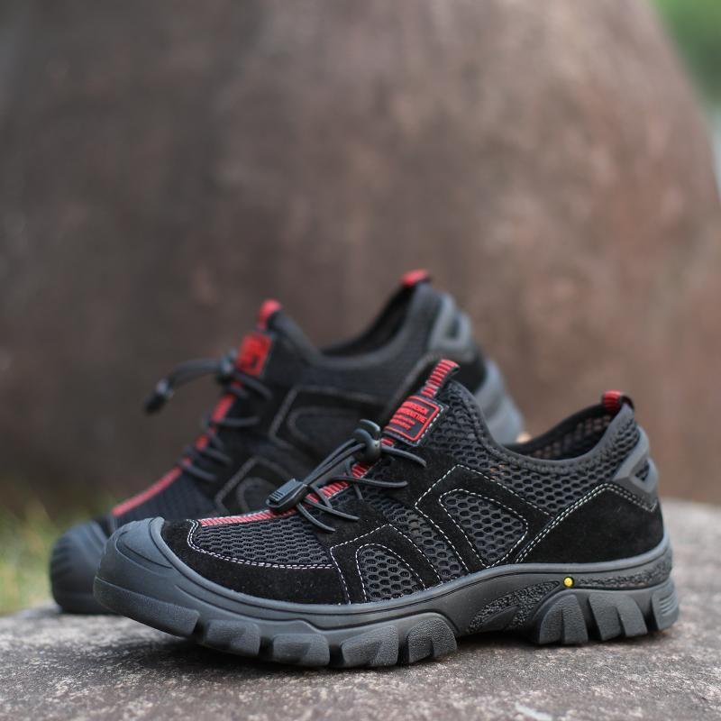 Outdoor-Sandalen Mode Herren 39 Leder 2020 neue Sommer-Strand-Gehen Retro Schuhe atmungsaktiv Wandern Holes Naturalizer Closed Toe