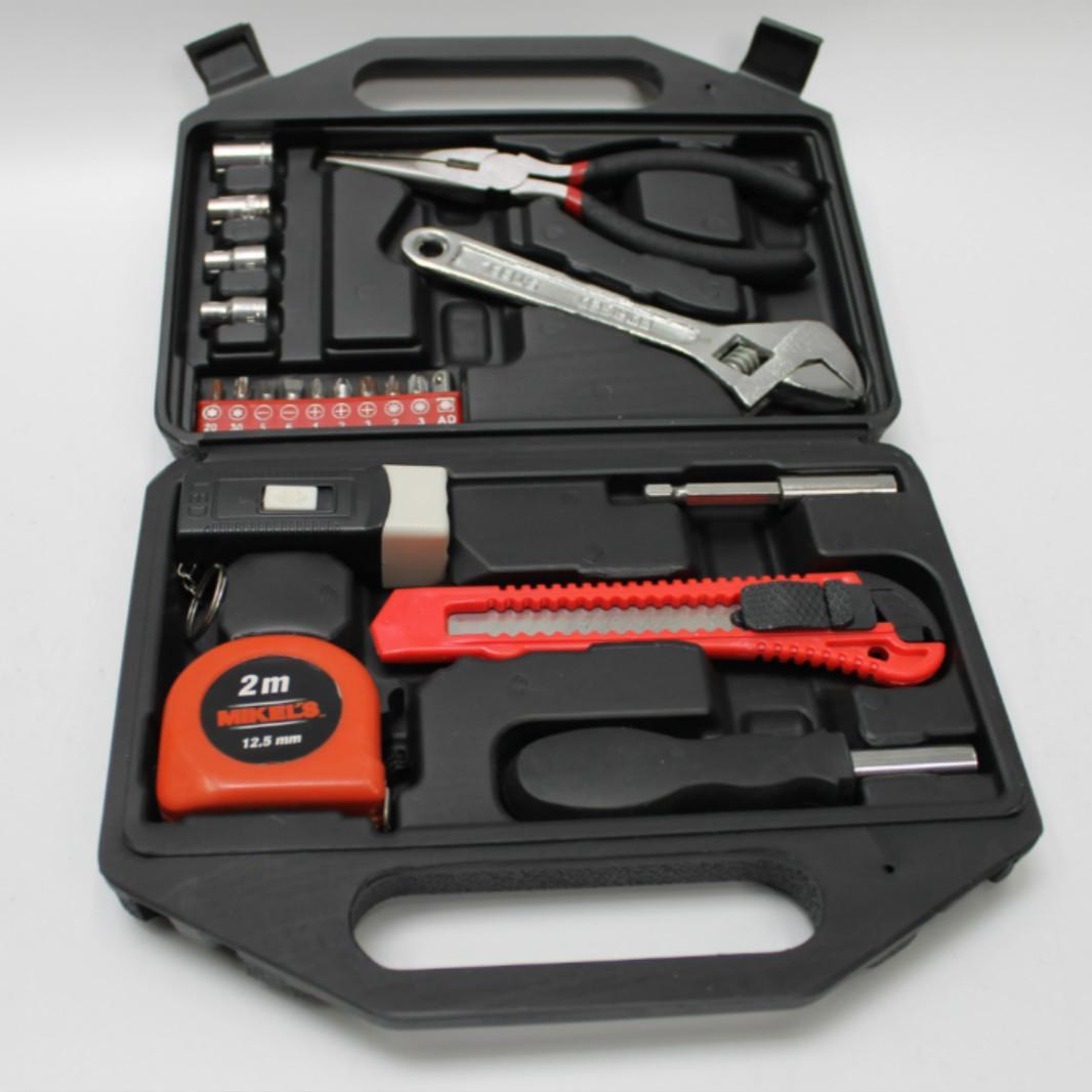 Toolbox des täglichen Haushaltshandwerkzeuge Set Hardware-Elektriker Sonderfrequenz Multifunktionale Wartungseinstellungsschlüssel 21pc