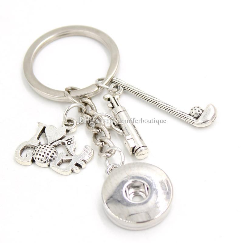 Cgjxs Новое прибытие Diy Сменная 18мм оснастки ювелирных изделий Golfbag Брелок Сумочка Шарм Привязать брелок Golf Key Ring Jewelry для гольфа Lover G