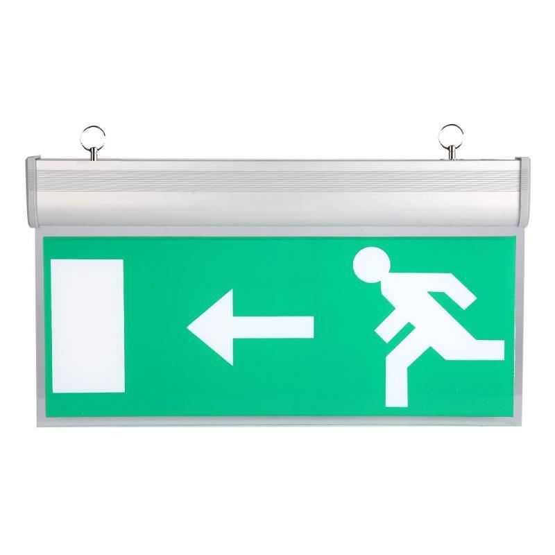 Nova Esquerda / Direita / EXIT / Acrílico LED Emergency Exit Iluminação Sinal de evacuação de segurança Indicador Luz 110-220V Hanging Exit Liderados