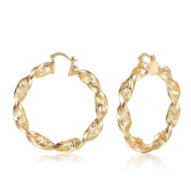 Luxuriöse Trendy-Band-Ohrringe für Frauen Ohrringe Plaqué Round Female Hot Schmuck Hochzeit Accessoires Geschenke MC0009