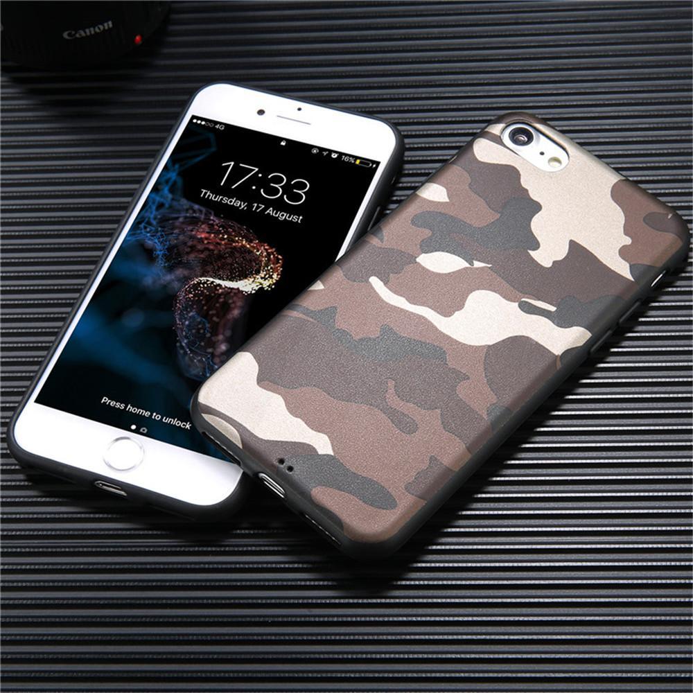 100шт / Lot телефон Прохладный армии Ca Камуфляж Ультра случаев Тонкой мягкая TPU крышка для iPhone 8 X