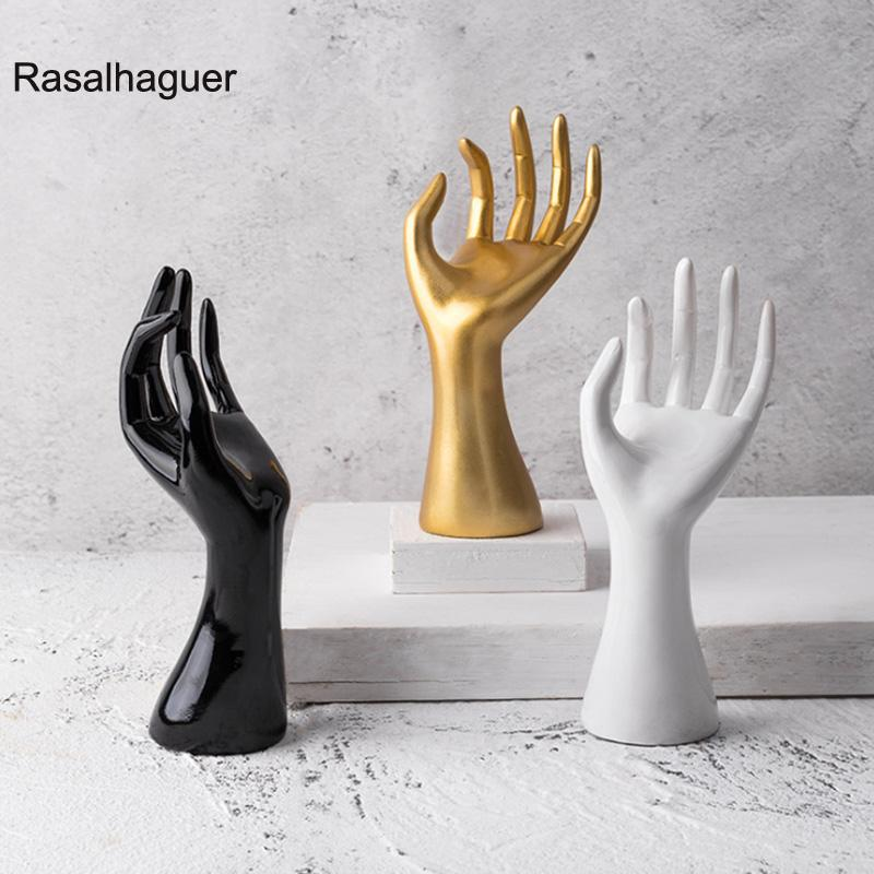 2020 New Mannequin Resin Hand 3 Farben Gfit Schmuck-Ausstellungsstand-Halter-Aufhänger-Ring-Halsketten-Armband-Armband-Ring-Uhr-Handschuhe