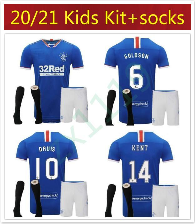 20 21 çocuk 2020 2021 Glasgow Rangers Defoe Dauis gençlik Deplasman 3 Futbol formaları Glasgow Rangers fc GERRARD Futbol Formalar kiti