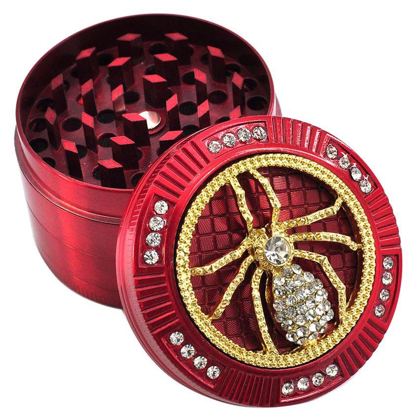 52 milímetros diamante Herb Grinder Animal Design Pattern Tobacco Spice Muller Crusher Moedor de 4 camadas de metal Grinders Acessórios fumar GGA3716