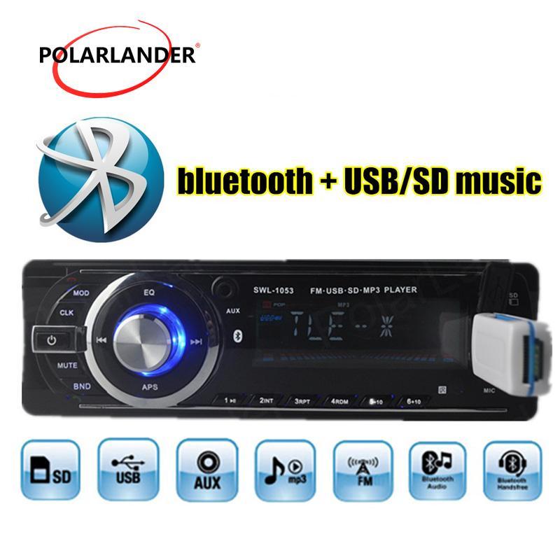 Auto Radio Support USB/SD/EQ/Bluetooth/FM/Aux/Clock Function 1 Din Car Radio in hand-free call Mp3 Player