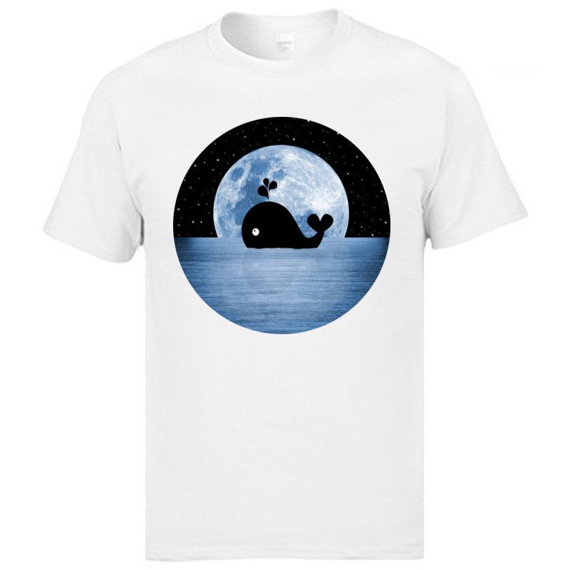 Ballena bajo el agua Buzo Lo nuevo Hombre Camisetas de calidad superior del cuello redondo 100% algodón tes de las tapas superior al por mayor de encargo de las camisetas