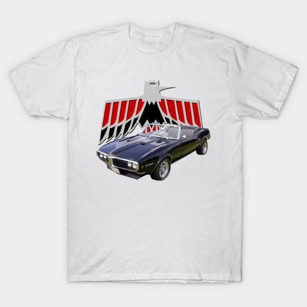 Men T-Shirt 1968 Pontiac Firebird Convertible Tshirt Women T Shirt