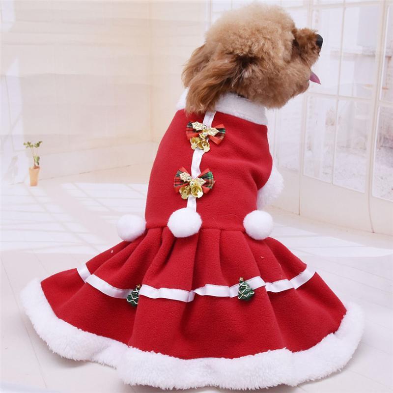 Haustier-Hundekleid Weihnachten Mantel-Sweatshirt für kleine Hunde Katzen Soft-Fleece-Katze Hundemantel Jacke Welpen Kleidung Outfits Chihuahua