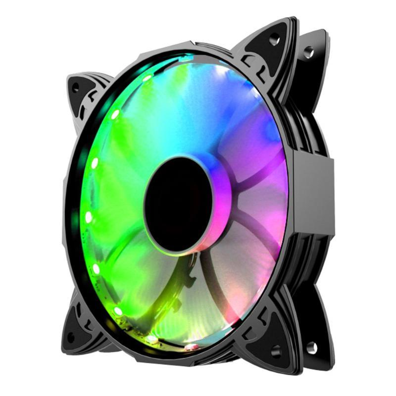 12см Wireless CPU с контроллером Аксессуары Регулируемый вентилятор охлаждения Комплект дистанционного управления Красочные RGB LED для ПК Корпуса ABS