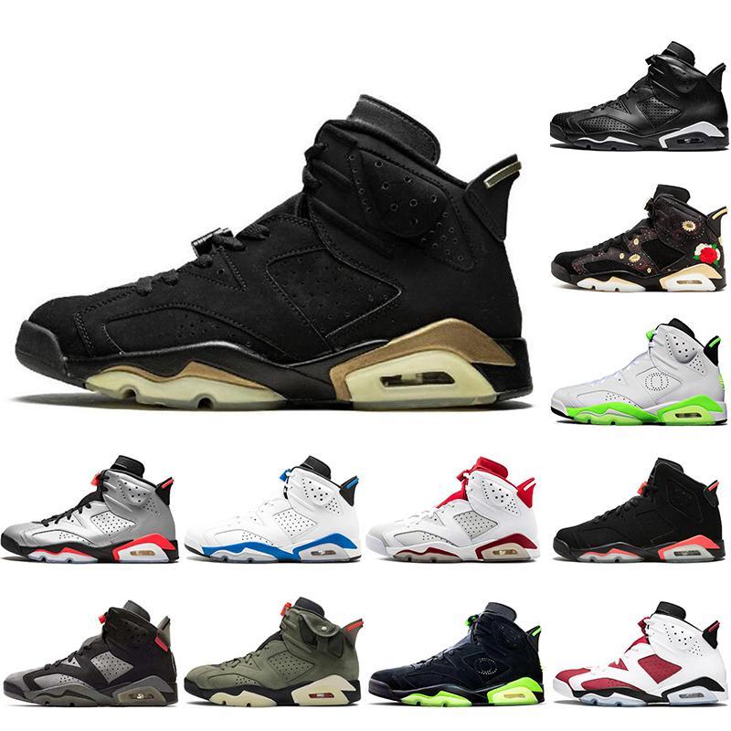 Nike AIR Jordan 6 con i calzini liberi NUOVO Jumpman 6 6s scarpe da basket Hare DMP da tennis del Mens Atletico denim lavato Travis Scotts Oregon anatre formatori nero