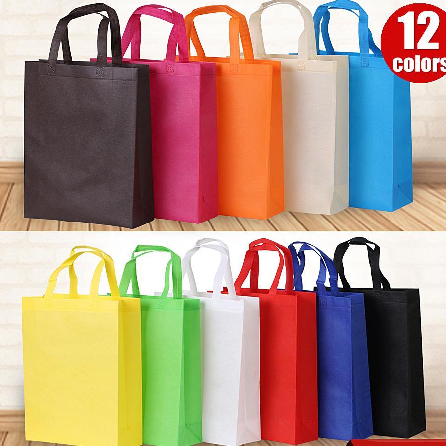 فارغة غير المنسوجة حقيبة قابلة لإعادة الاستخدام حقيبة تسوق 3-الأبعاد العلامة التجارية الإعلان الترويجية هدية حقائب قبول شعار مخصص الطباعة