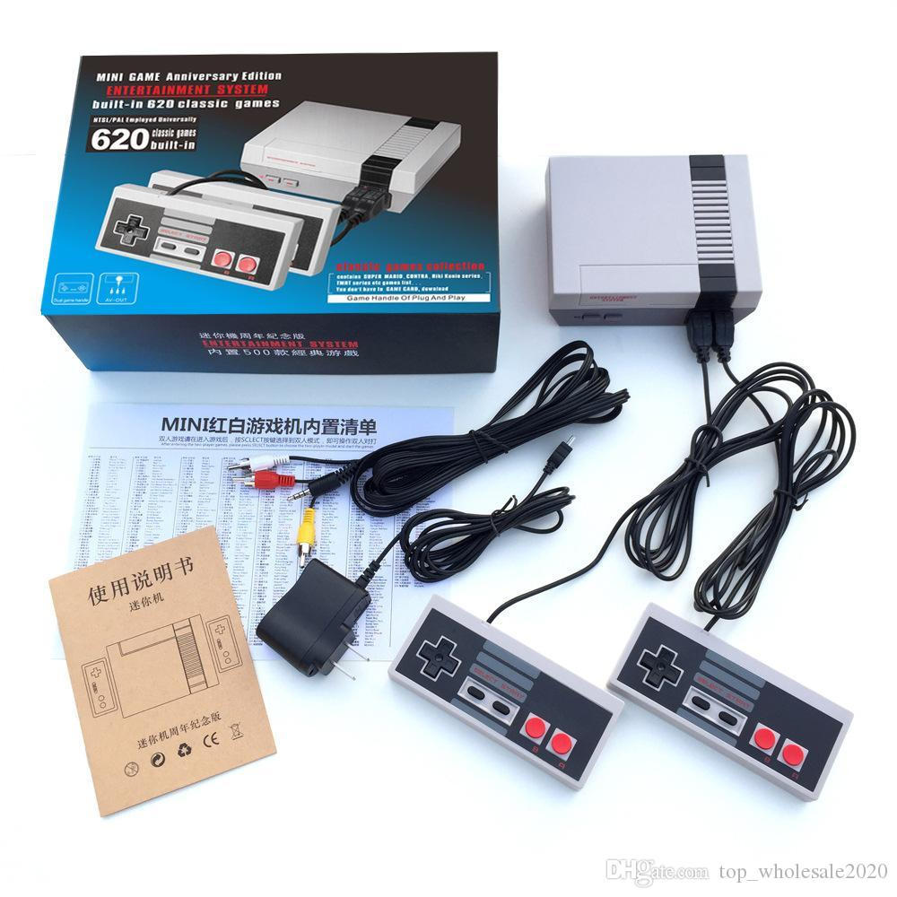 Hot Selling Mini TV Video Entertainment System 620-in-1 Classic Retro Games Game Console for NES Games Wth Controllers Retail Box Packaging