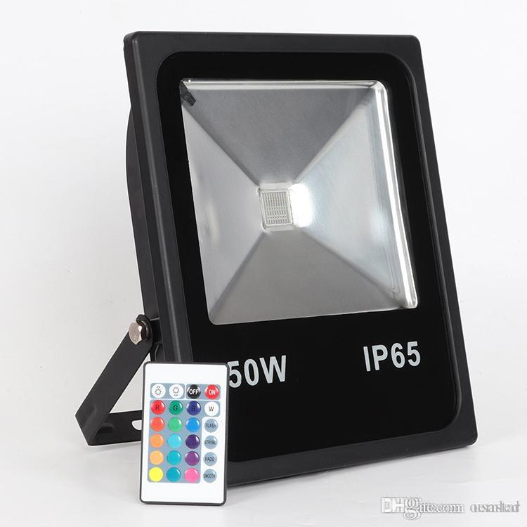 Dimmable Outdoor Color Changing Lights with Remote10W-200W IP65 Waterproof Outside Security RGB Flood Light,Exterior Landscape Accent Light