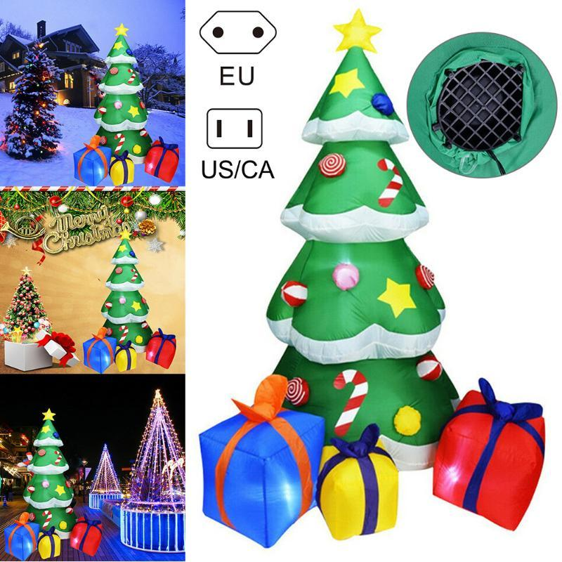 LED Lilluminated Noel ağacı Şişme Modeli Çim Yard Açık Noel Dekorasyon MDJ998