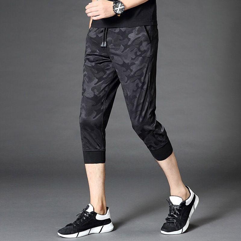 3JbHU Capri pantalons d'été pour étudiants coréens et un short style à la mode shorts occasionnels des hommes d'été L8MSg hommes de sport 7 points pantalon mince lâche