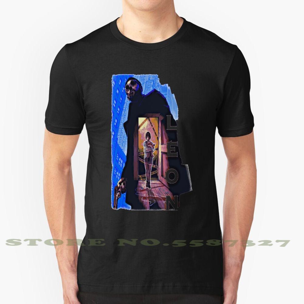Moda Vintage León Mi Guardaespaldas camiseta T Shirts León León El profesional Mathilda Natalie Portman Grunge inconformista Tumblr