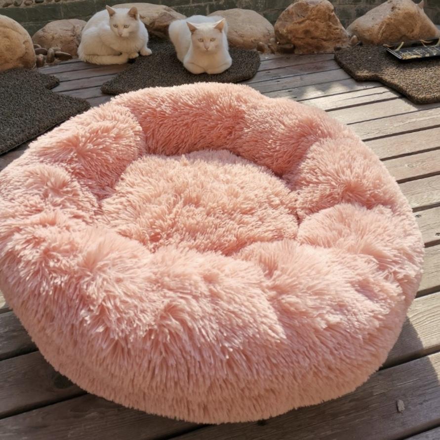 أغطية فخمة طويلة داود السرير وسادة تهدئة السرير هوندينمنمن الحيوانات الأليفة بيت الكلب سوبر ناعمة رقيق مريحة ل كبير القط الكلب المنزل