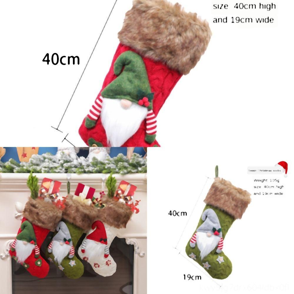y7ems Decoration Drawstring Claus Bag Linen Candy Bag Cartoon Hotel Santa Xmas Snowman Elk Christmas Gift Bag Pouch Decorations GiftBags DBC