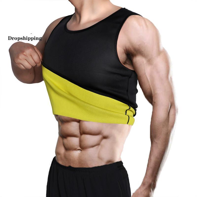 Belly Dropshipping Slimming Belt Homens Emagrecimento Vest Shaper Corpo Neoprene Abdomen Fat Burning Shapewear cintura Sweat Corset